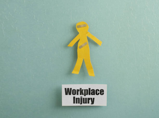 Workplace Injury worker concept stock photo
