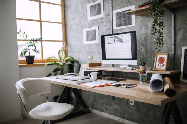 Workplace of an Architect stock photo