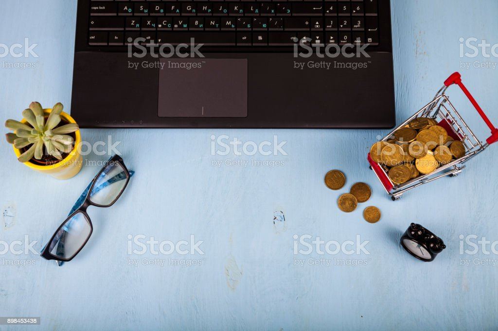 Workplace of  businessman stock photo