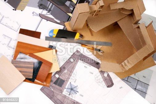 istock Workplace of designer 91646322