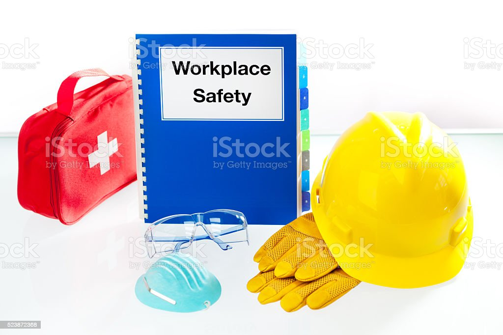 Workplace Safety Manual With Safety Equipment Stock Photo  More