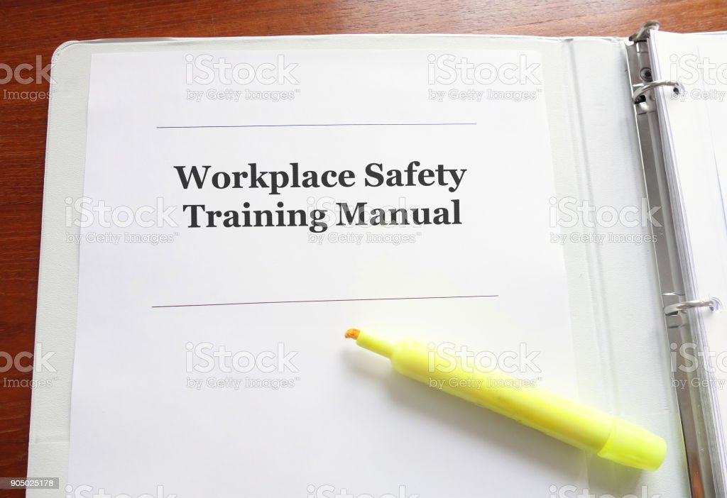 Workplace Safety Training Manual stock photo