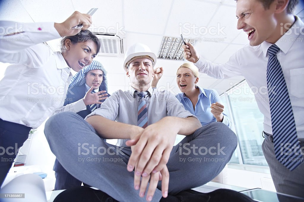 Workplace stress royalty-free stock photo