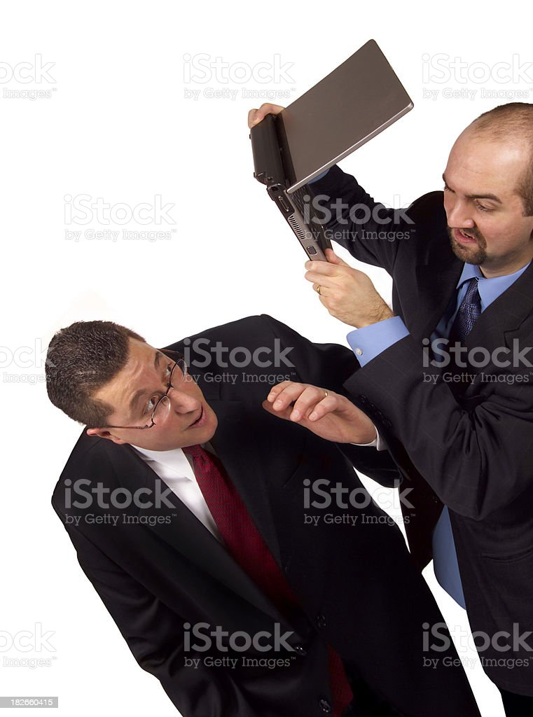 workplace violence royalty-free stock photo