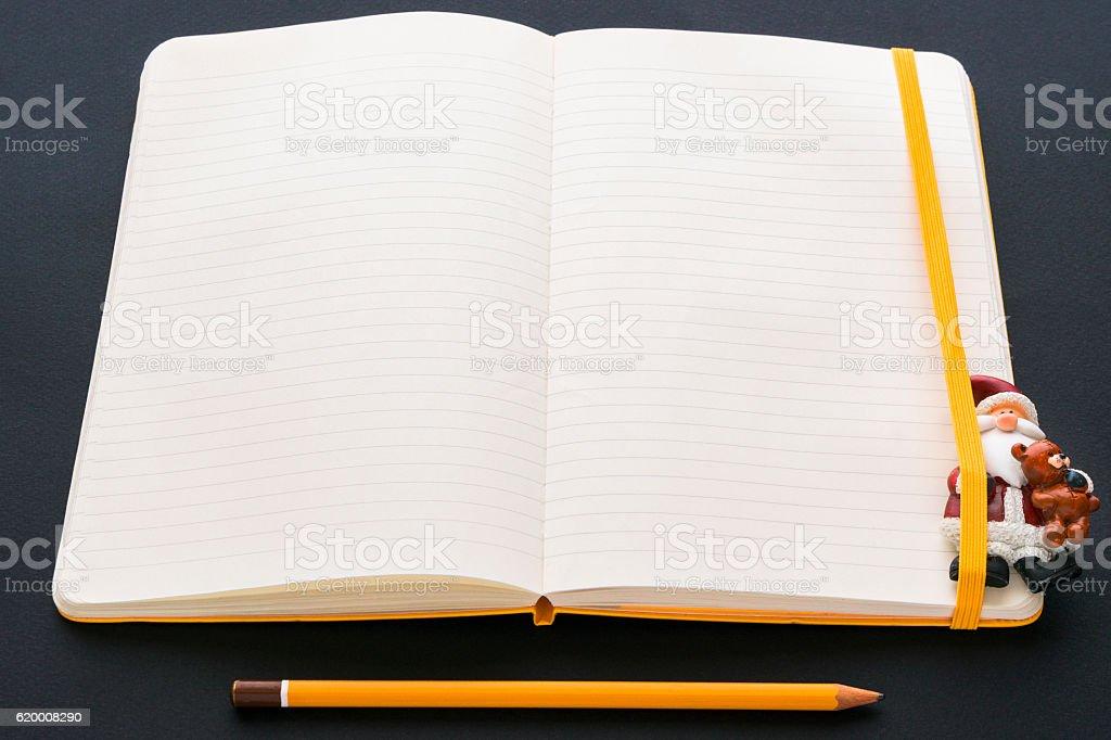 workplace with opened notebook zbiór zdjęć royalty-free