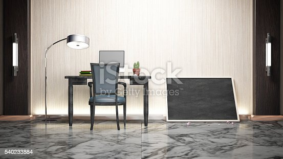 istock Workroom Simple Luxuly marble and wood 540233884