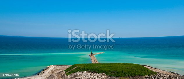 Works for coastal protection against coastal erosion in the southern area of Romania's Black Sea , Constanta County.