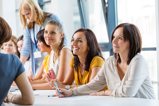 Workshop For Women Stock Photo - Download Image Now