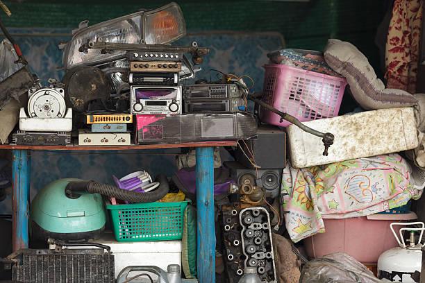 workshop mess stock photo