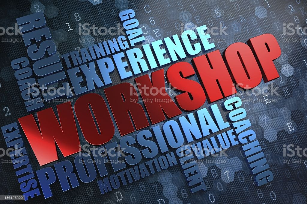Workshop. Wordcloud Concept. royalty-free stock photo