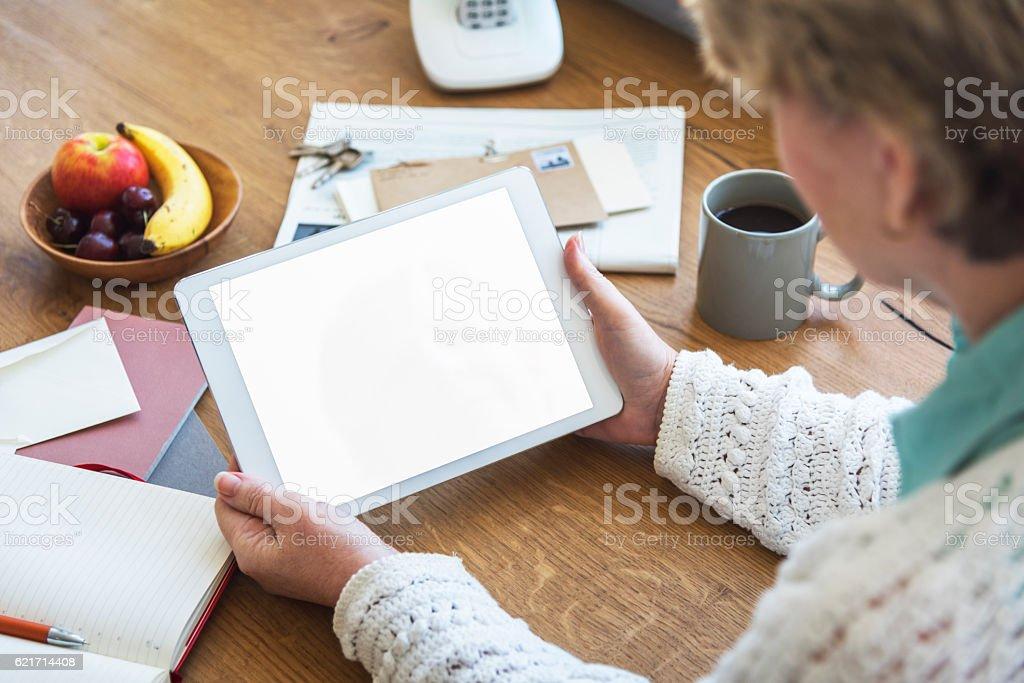 Workspace Digital Tablet Copy Space Concept – Foto
