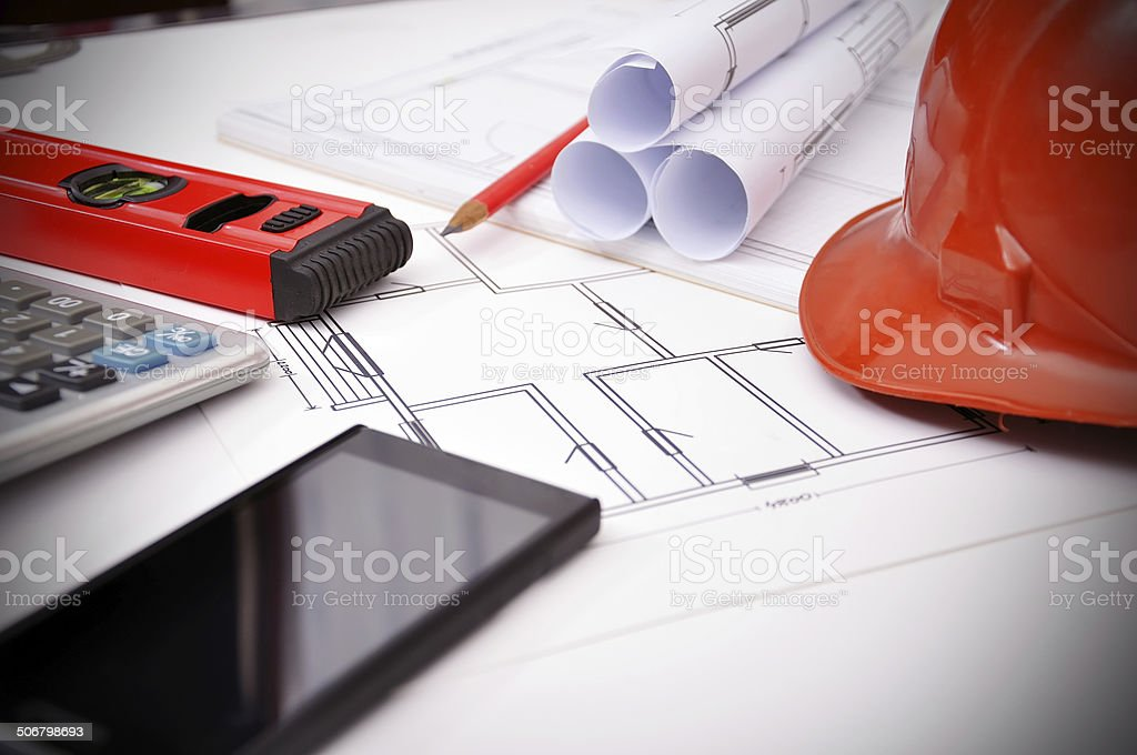 workspace engineer royalty-free stock photo