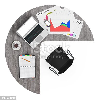 1180722244 istock photo Workspace of Businessman with laptop. 3d Rendering 537273966