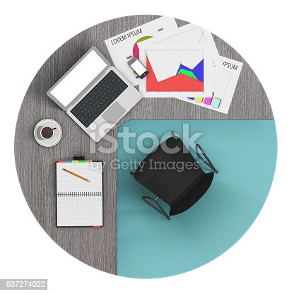 1180722244 istock photo Workspace of Businessman with laptop. 3d Rendering 537274022