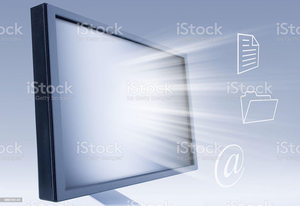workstation royalty-free stock photo