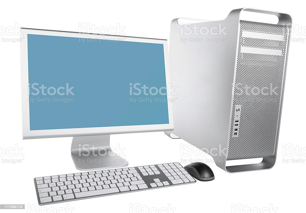 Workstation with clipping path royalty-free stock photo