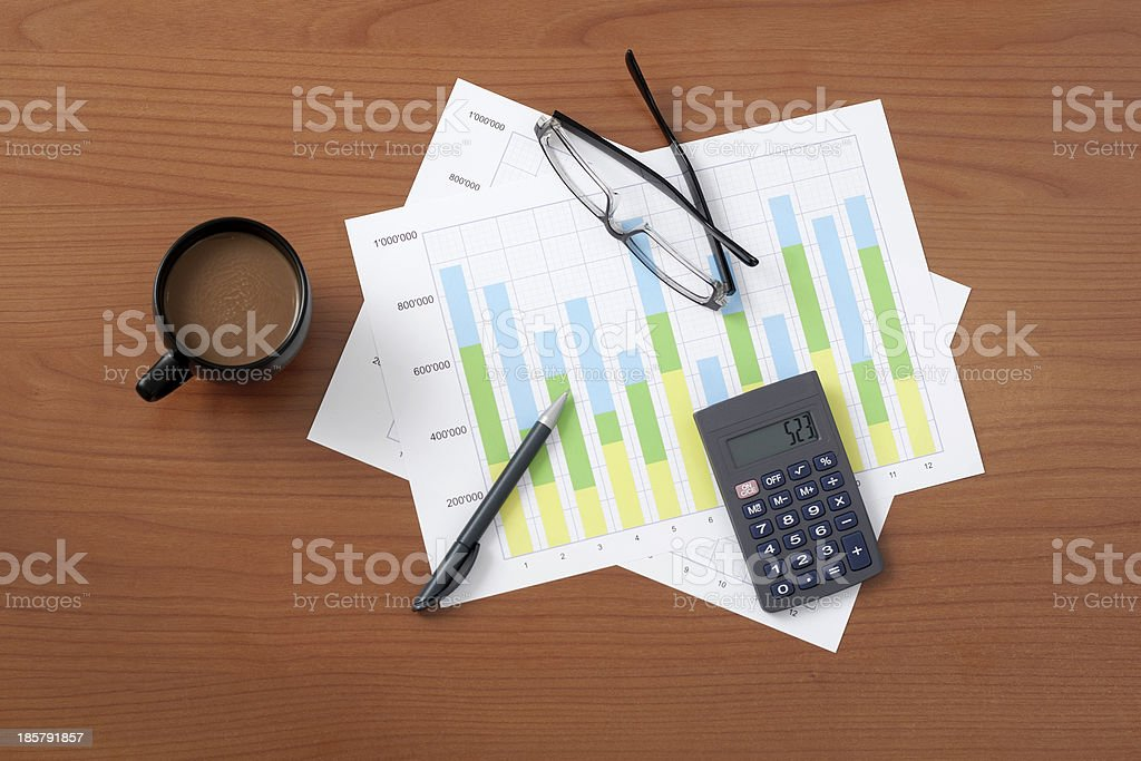 Worktable, High Angle View royalty-free stock photo