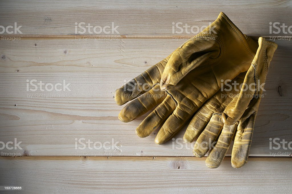 workung gloves stock photo