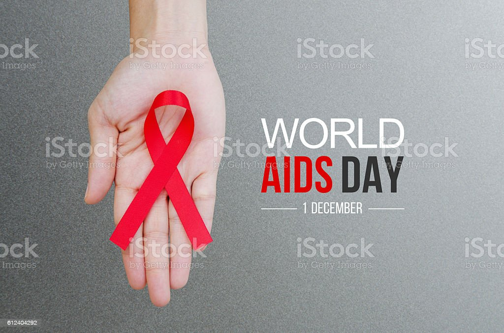 World Aids Day concept. stock photo