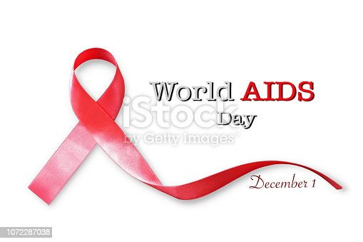 istock World aids day concept with red ribbon awareness 1072287038