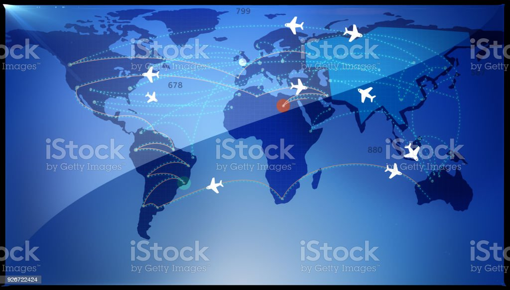 World Air Travel Concept stock photo