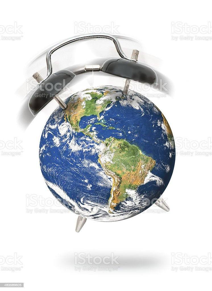 world alarm stock photo