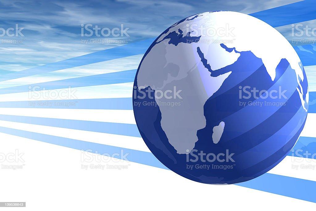 world and sky royalty-free stock photo