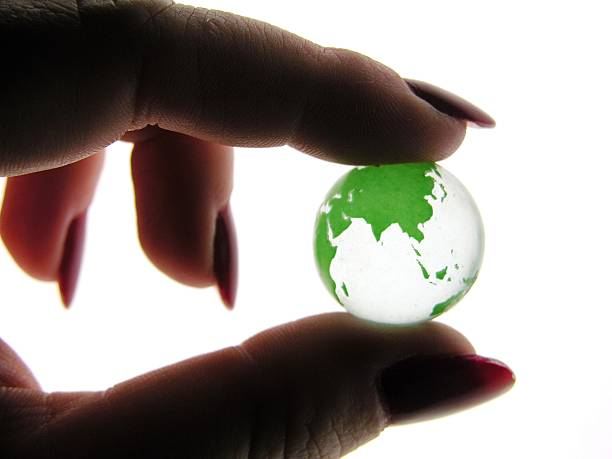 World at Your Fingertips stock photo