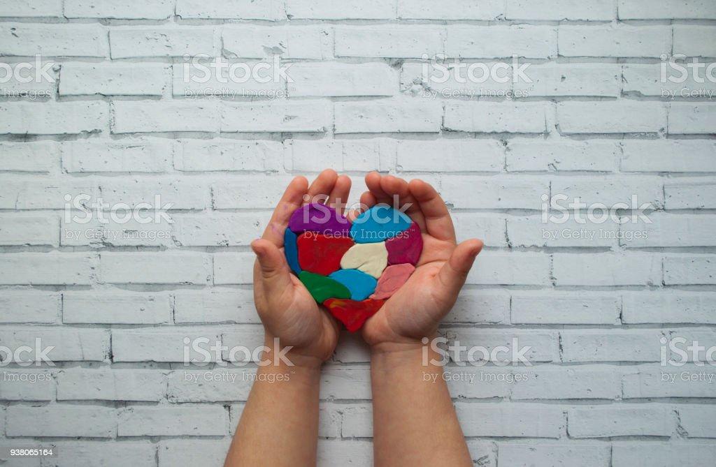 Wereld autisme bewustzijn dag concept. foto