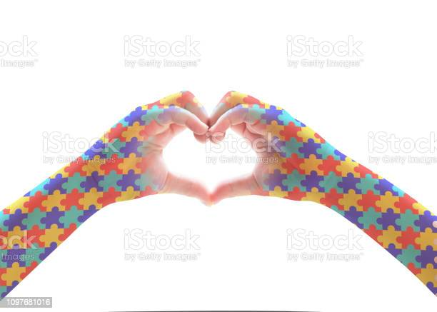 World autism awareness day mental health care concept with puzzle picture id1097681016?b=1&k=6&m=1097681016&s=612x612&h=kkdbbn6cvwuin8cfeucwlmuhglbsan4diwz6stt7r38=