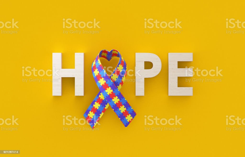 World Autism Day Concept stock photo