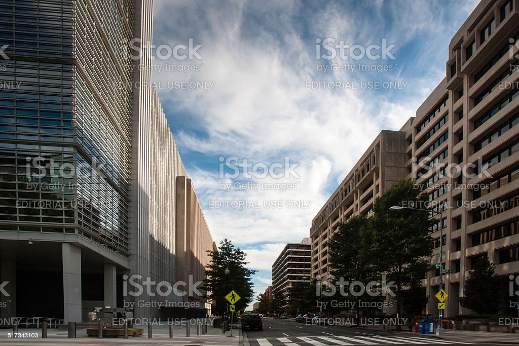 World Bank and IMF stock photo