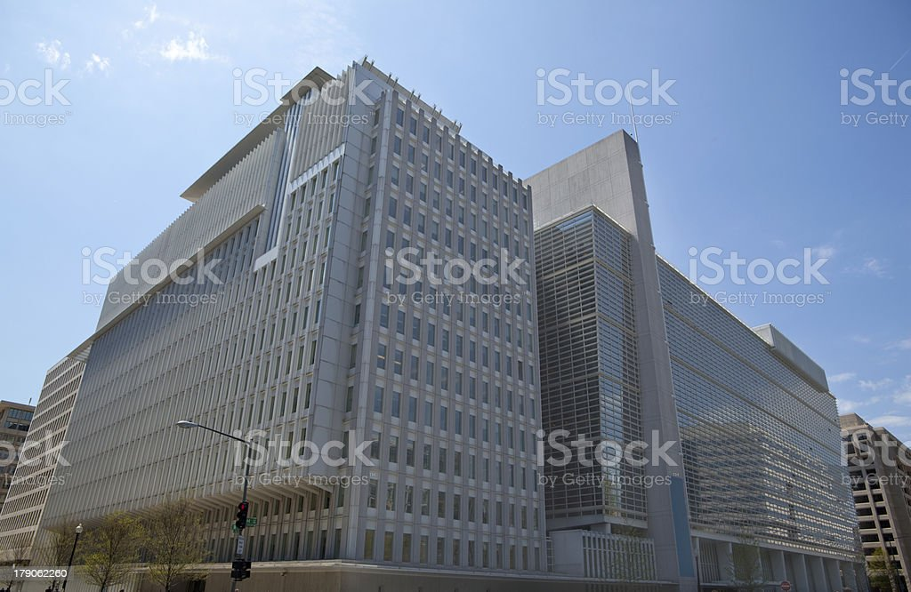World Bank Headquarters in Northside Building Washington DC stock photo