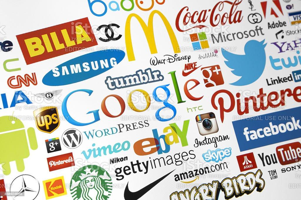 World Brand Logotypes stock photo