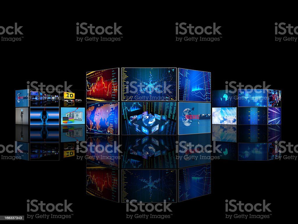 World Business Media Center stock photo