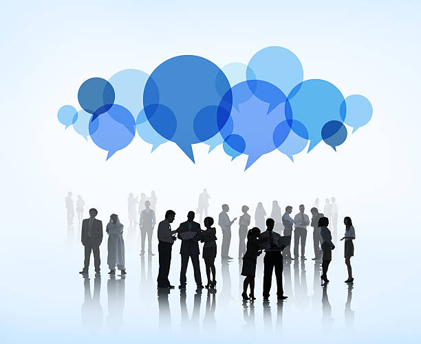 World Business People Sharing Ideas stock photo