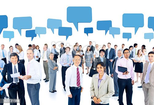 istock World business people with thought bubbles 157731588