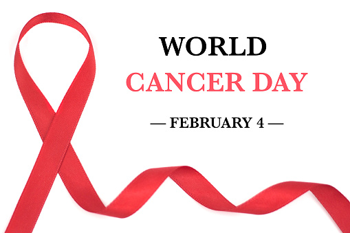 istock World Cancer Day Awareness ribbon. February 4 898309670
