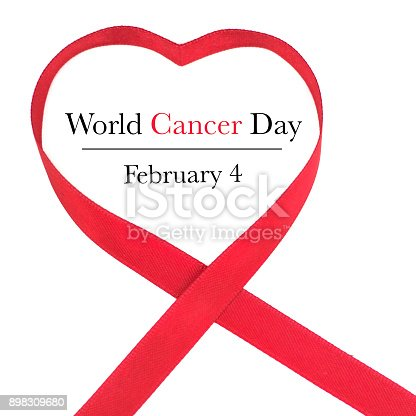 istock World Cancer Day Awareness ribbon. February 4 898309680