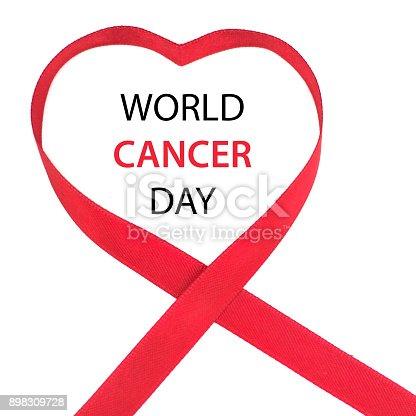 istock World Cancer Day Awareness ribbon. February 4 898309728