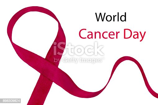 istock World Cancer Day Awareness ribbon. February 4 898309824