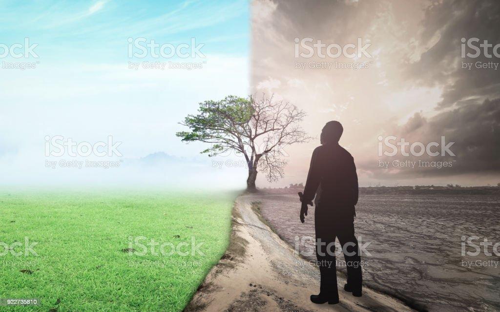Mudança de mundo e conceito de aquecimento global - Foto de stock de Abstrato royalty-free