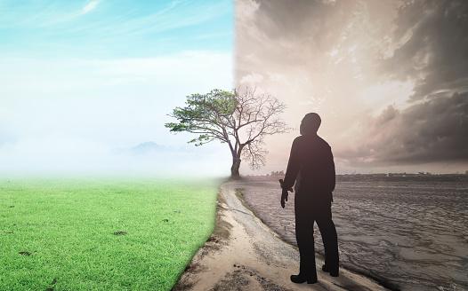 Foto de Mudança De Mundo E Conceito De Aquecimento Global e mais fotos de stock de Abstrato