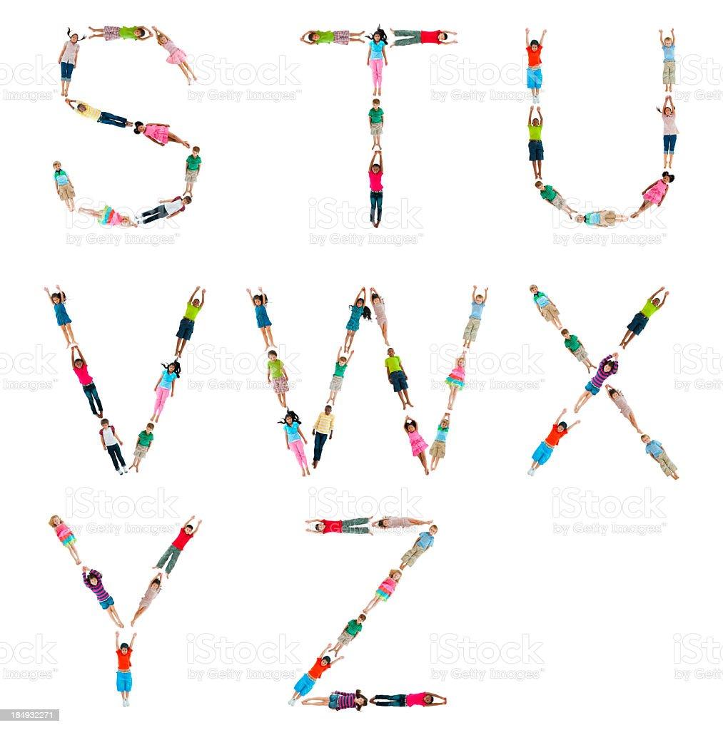 World Children Alphabet. royalty-free stock photo