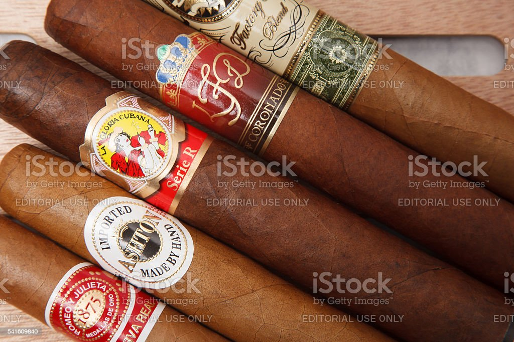 World cigars stock photo