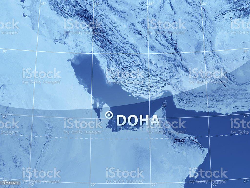 World City Doha royalty-free stock photo