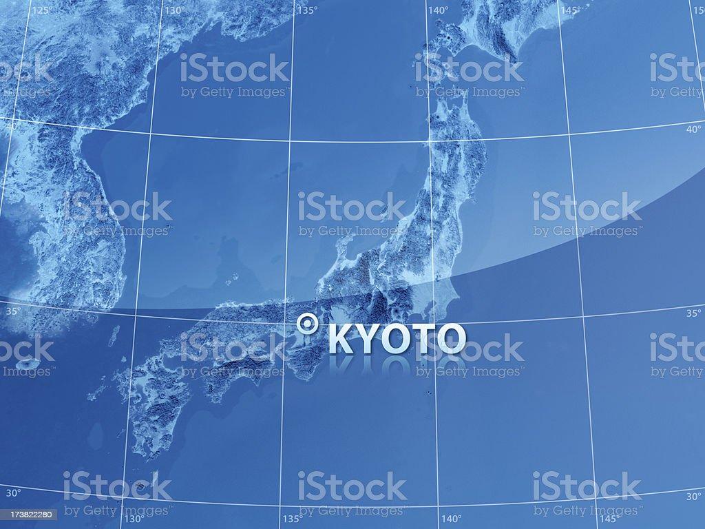 World City Kyoto royalty-free stock photo