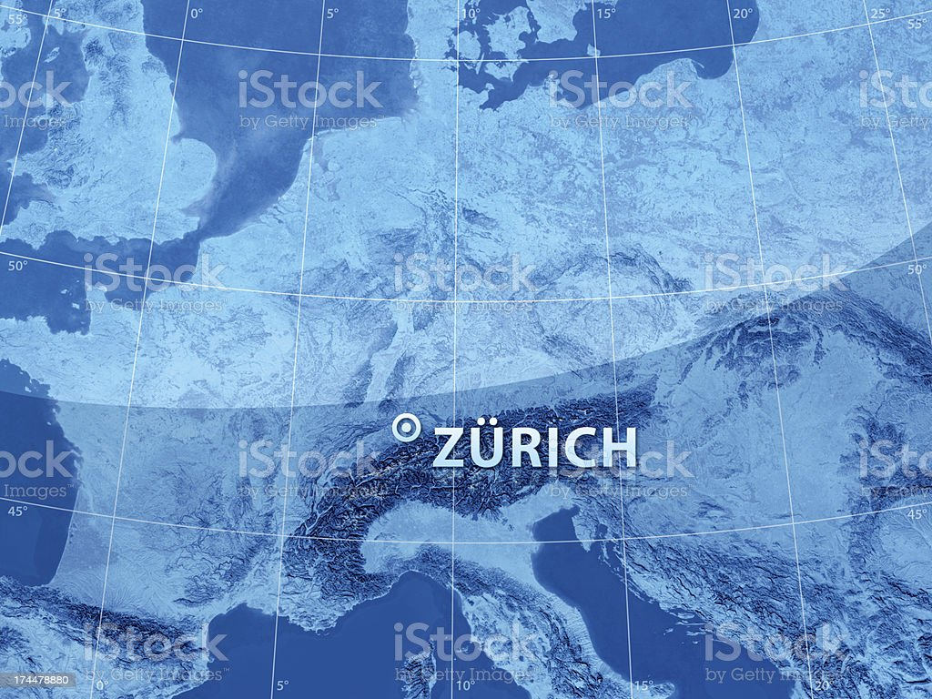 World City Zurich royalty-free stock photo