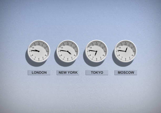 world clock different time in the world time zone stock pictures, royalty-free photos & images