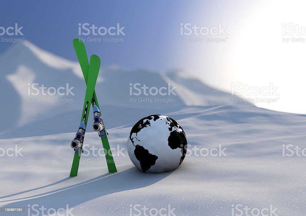 World Wettbewerb Skifahren – Foto